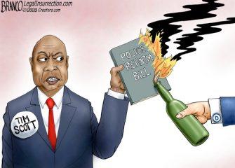 A.F. Branco Cartoon – Burning It Down