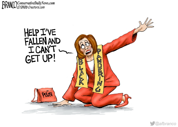 Kneeling Nancy Pelosi