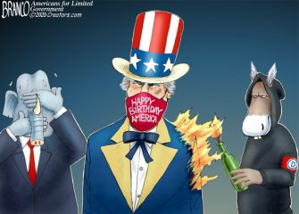 A.F. Branco Cartoon – America's Freedoms matter
