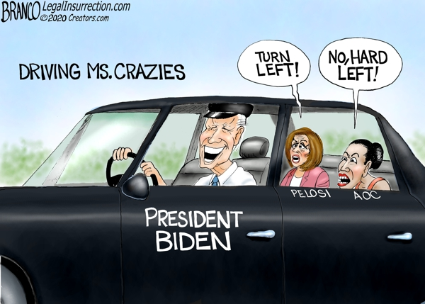 Biden Driven Hard Left