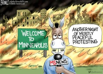 A.F. Branco Cartoon – Mostly Peaceful