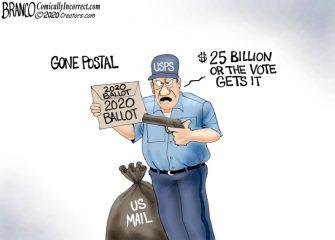 A.F. Branco Cartoon – Going Postal