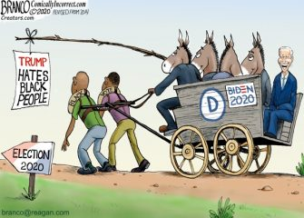 A.F. Branco Cartoon – Riding On The Black Vote