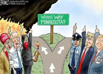 A.F. Branco Cartoon – Which Way Minnesota?