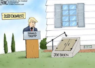 A.F. Branco Cartoon – Trump vs Hiden