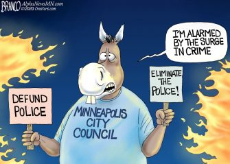 A.F. Branco Cartoon – Where's The Cops?