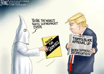 A.F. Branco Cartoon – Anti-Racist in Chief