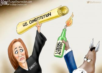 A.F. Branco Cartoon – A Higher Loyalty
