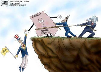 A.F. Branco Cartoon – Hanging in the Balance