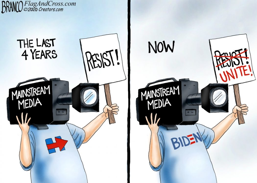 Media Bias for Biden