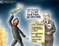A.F. Branco Cartoon – On the Lookout