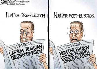 A.F. Branco Cartoon – There's Hunter!
