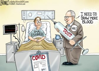 A.F. Branco Cartoon – Bad to Worse