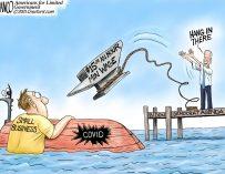 A.F. Branco Cartoon – Sinking Fast