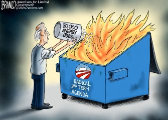A.F. Branco Cartoon – One Man's Garbage…