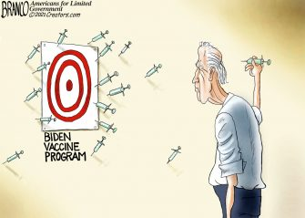 A.F. Branco Cartoon – Sharp Shooter