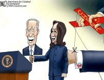 A.F. Branco Cartoon – The Three Puppeteers