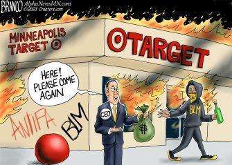 A.F. Branco Cartoon – Target Practice