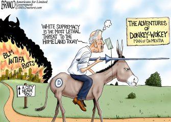 A.F. Branco Cartoon – Frail Rider