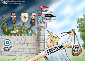 A.F. Branco Cartoon – The Donald vs Goliaths
