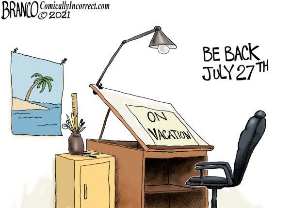 A.F. Branco Cartoon – Vacation!