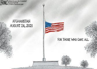 A.F. Branco Cartoon – Mourning In America