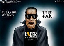 A.F. Branco Cartoon – Black Face of Liberty