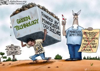 A.F. Branco Cartoon – Price of Going Green