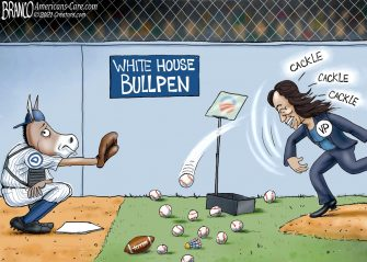A.F. Branco Cartoon – Out in Left Field