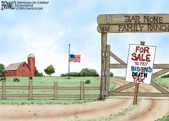 A.F. Branco Cartoon – Land Grabber