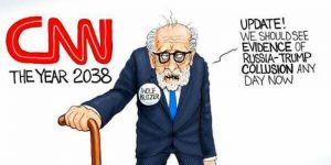 Trump Tweets A.F. Branco Cartoon Mocking CNN and Wolf Blitzer