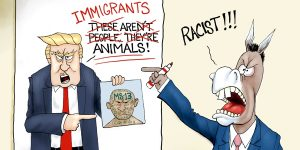 A.F. Branco Cartoon - Fake Racism News