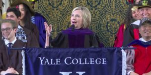 Hillary Addresses Yale Grads: No Sane Parent Would Want Her Advice
