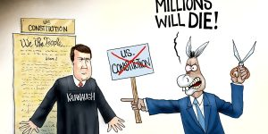 A.F. Branco Cartoon - Crying Wolf, Again