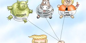 A.F. Branco Cartoon - Hot Air Balloons