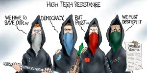 A.F. Branco Cartoon - Tech Got Your Tongue?