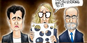 A.F. Branco Cartoon - Holey Testimony!