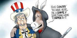 A.F. Branco Cartoon - Mobocrat Party