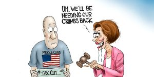 A.F. Branco Cartoon -  High Tax Nancy