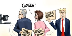 A.F. Branco Cartoon - Hidden Agenda