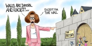 A.F. Branco Cartoon - Walled Off