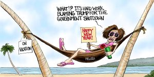 A.F. Branco Cartoon - Less Hula, More Moola