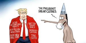 A.F. Branco Cartoon - Butt Naked Truth
