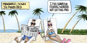 A.F. Branco Cartoon - Getaway