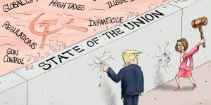 A.F. Branco Cartoon - Union At Stake