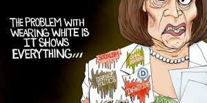 A.F. Branco Cartoon - White Wing Extremist