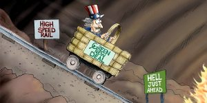 A.F. Branco Cartoon - Being Railroaded