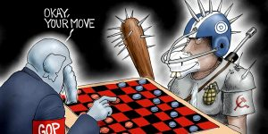A.F. Branco Cartoon - No Rules For Radicals