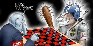 A.F. Branco Cartoon - No Rules For Radicals