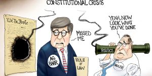 A.F. Branco Cartoon - Near Miss